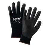 West Chester 715SNFB-2X Foam Nitrile Palm Dip on Nylon Shell Gloves- Black